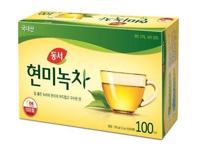 - 100 - 180 Pcs Dongseo Brown Rice Green Tea Bag Good For Healthy Tea Herb Tea
