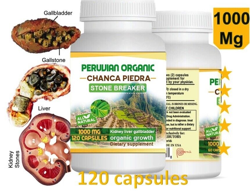 Chanca Piedra 2 Btl x 120 Caps (Peruvian material) Natural Kidney Stone Breaker 2