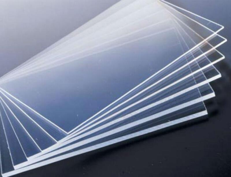 US Stock 10pcs Clear Acrylic Sheets Transparent PMMA Panels 100mm * 100mm * 3mm