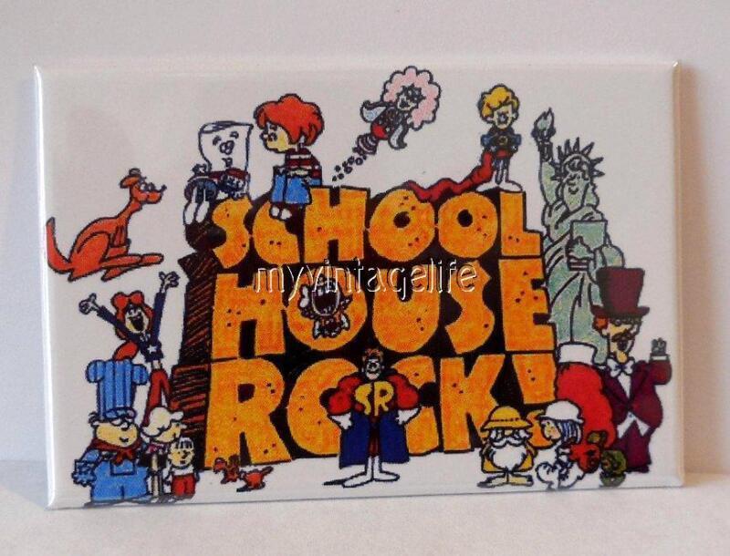 "VINTAGE SCHOOL HOUSE ROCK  2"" x 3"" Fridge MAGNET Art"