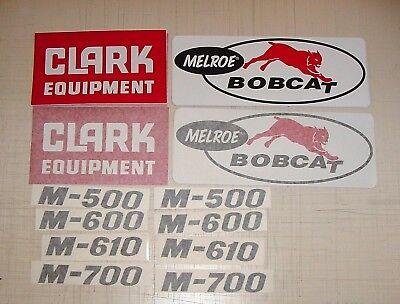 Melroe Bobcat Stickers M600 Clark Decals