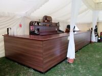 Mobile Bar - high quality large wooden bar and back bar - easy to erect and dismantle