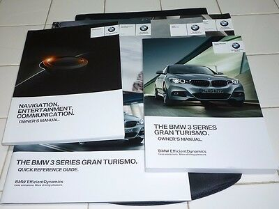 2014 BMW 3 SERIES GRAN TURISMO 335i 228i OWNERS MANUAL SET +NAVIGATION GUIDE NEW