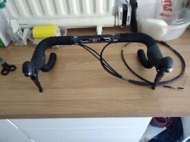 Shimano Tiagra 4700 Shifters with Handlebars, Cables and Bar Tape - Hardly Used