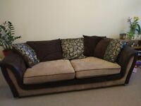 Two seater sofa . Good condition . Swivel sofa chair this has hardly been used