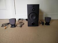 Black Harmon Kardon HK 395 3-piece sound system