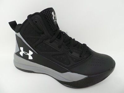 294ff611cdf8 Under Armour Boys Youth Jet Athletic Shoes Black Grey (20S1)