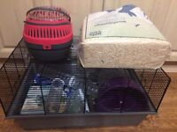 Large hamster cage and carry cage with tonnes of accessories