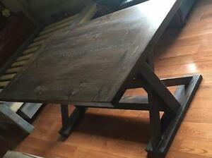 NEW 6 FT rustic dinning table