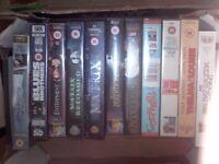 23 x VHS Videos ..... Matrix, Layer Cake, Entrapment. carboot joblot