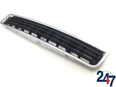AUDI NEW A4 B6 2001 - 05 FRONT BUMPER LOWER CENTER MESH GRILL WITH CHROME TRIM