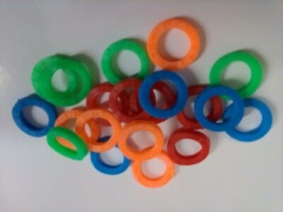40 Stück 4 Farben Schlüsselkennringe Bunt Farbig Markierung Schlüsselmarker