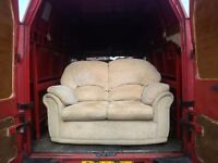 BARGAIN! 2 seater cream sofa in good clean condition. Free delivery