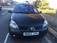 Renault Clio Dynamique 16V , Petrol , Good condition, 3 Doors , Cheap Runner , MOT 11/2017