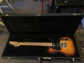 Fender Deluxe Nashville Telecaster in Sunburst - hard case included