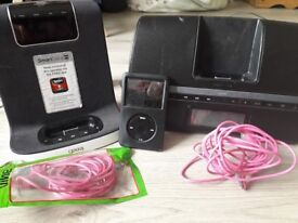 Ipod Classic 80GB and 2 docking stations