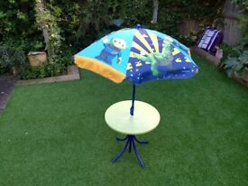 Toy Story table and parasol