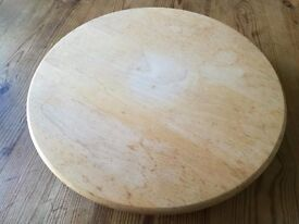 "Large wooden ""Lazy Susan"" 38cm diameter."