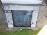 Large Marble Fireplace