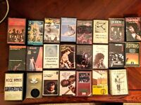 Rock cassette tape collection