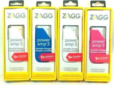 ZAGG Power Amp 3 Universal Battery Charger 3,000 mAh for (Power Universal Battery Charger)