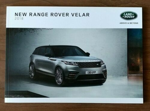 2018 LAND RANGE ROVER VELAR Sales Brochure Catalog US 18 R-Dynamic First Edition
