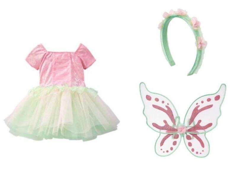 NWT Gymboree Woodland Fairy Halloween Costume Set 10 wings Headband Girl