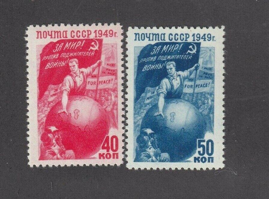 1949 Sc 1391-1392 For Peace. Against War Scott 1425-1426 MNHOG - $13.99