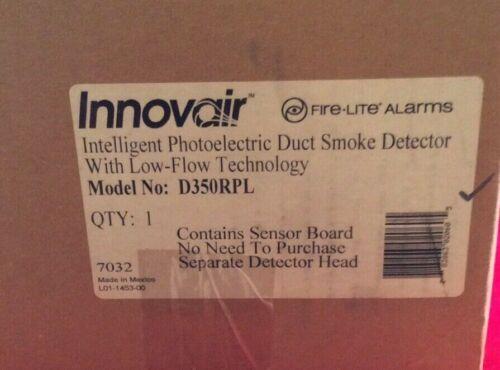 NEW Fire Lite Innovair D350RPL Intelligent Photoelectric Duct Smoke Detector