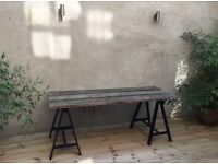 HAND CRAFTED TABLE FOR IN- AND OUTDOORS