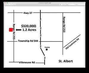 Best vacant acreage land just outside St. Albert