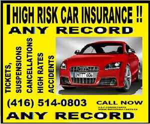 CHEAPER HIGH RISK CAR INSURANCE, CALL ME (WILL) at 416-514-0803.