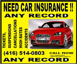 HIGH RISK DRIVER INSURANCE. TICKETS / ACCIDENT