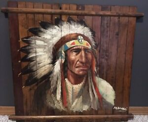 Oil Painting Native American