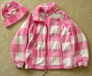 Girls Columbia jacket and hat