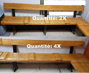 Banc en bois véritable + chaises mouelleuses