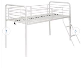 Children's mid sleeper bunk bed frame