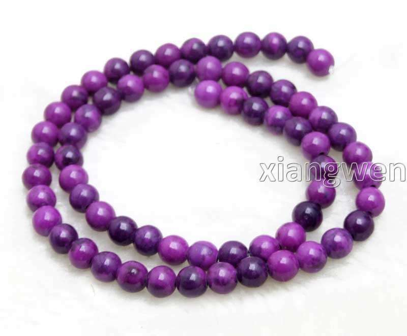 6mm Round Purple Sugilite Loose Beads for Jewelry Making DIY Strand 15