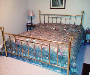 BRASS KING BED, ANTIQUE CHAIR, DINING CHAIRS, CABINETS...