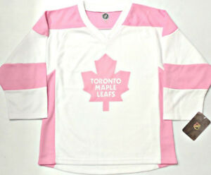 TORONTO MAPLE LEAFS PINK L/XL GIRLS/WOMENS/LADIES NHL JERSEY