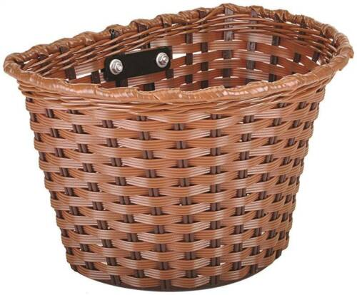 NEW Kent 96028 MEDIUM Bicycle Basket Brown PLASTIC 7110331