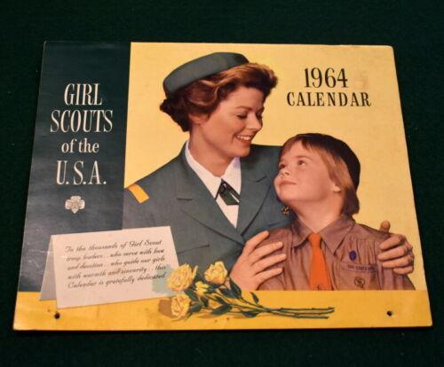 VINTAGE GIRL SCOUT - 1964 GIRL SCOUT CALENDAR