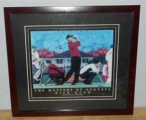 Tiger Woods Golf Print by Rick Rush Limited Edition