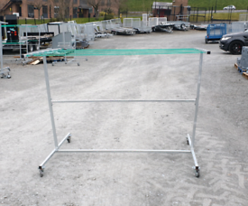 Short height Galvanised clothes line mobile on wheels