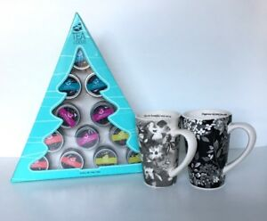 TEALICIOUS Assorted Loose Green & Black Teas and 2 Mugs -New
