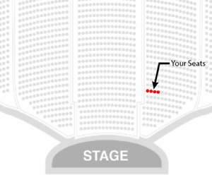 Bryan Ferry - 4 aisle seats in orchestra row 4