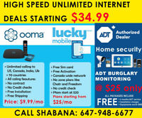 Internet $34  / Home Phone $10 / ADT Security $25 / Mobile $25