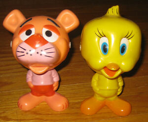 Pink Panther & Tweety Bird Chatter Chums talking 70's figures