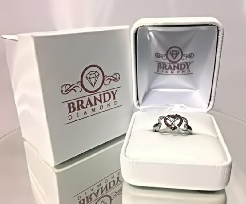 Brandy Diamond® Chocolate Brown Silver Double My Love Infin