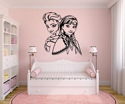 Frozen Anna and Elsa Disney Family Winter Snow Bedroom Wall Decor Sticker  Disney Bedroom Decor